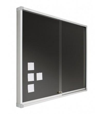 Vitrina - tapizado con puertas correderas