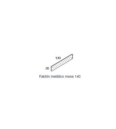 faldón metalico para mesa Exe de 140