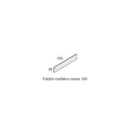 faldón metalico para mesa Exe 180 de 170*35
