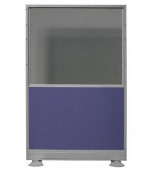 Biombo de mixto: Cristal doble + tapizado