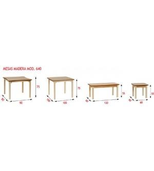 Mesa madera geriátrico 55 cm. de altura