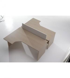 Mesa de oficina compacta 180*120*(80*60)*74