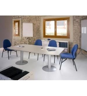 Mesa de reunión de 100 x 220 pata metálica
