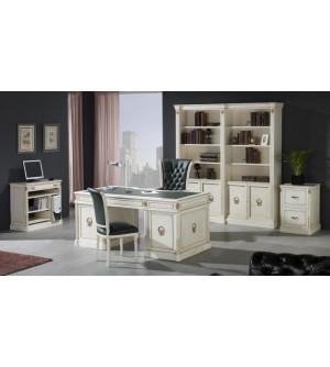 Muebles de despacho clásico blancos - composición nº 19